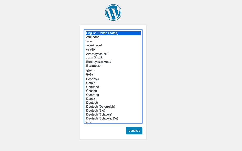 WordPress Welcome Screen